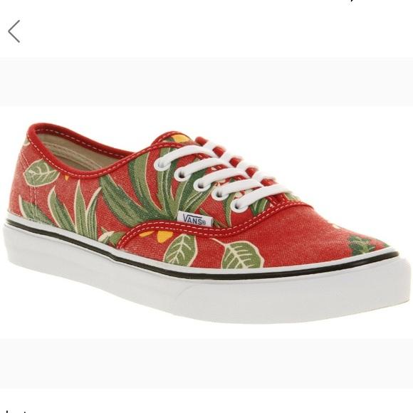 d9064167ff4a44 Vans Slim Authentic Red Van Doren Print Size 8. M 5a4966c631a37685f5023435.  Other Shoes ...